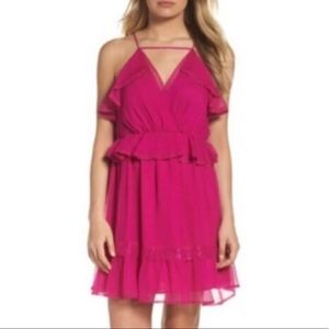 Adelyn Rae magenta size small dress ruffle tiered